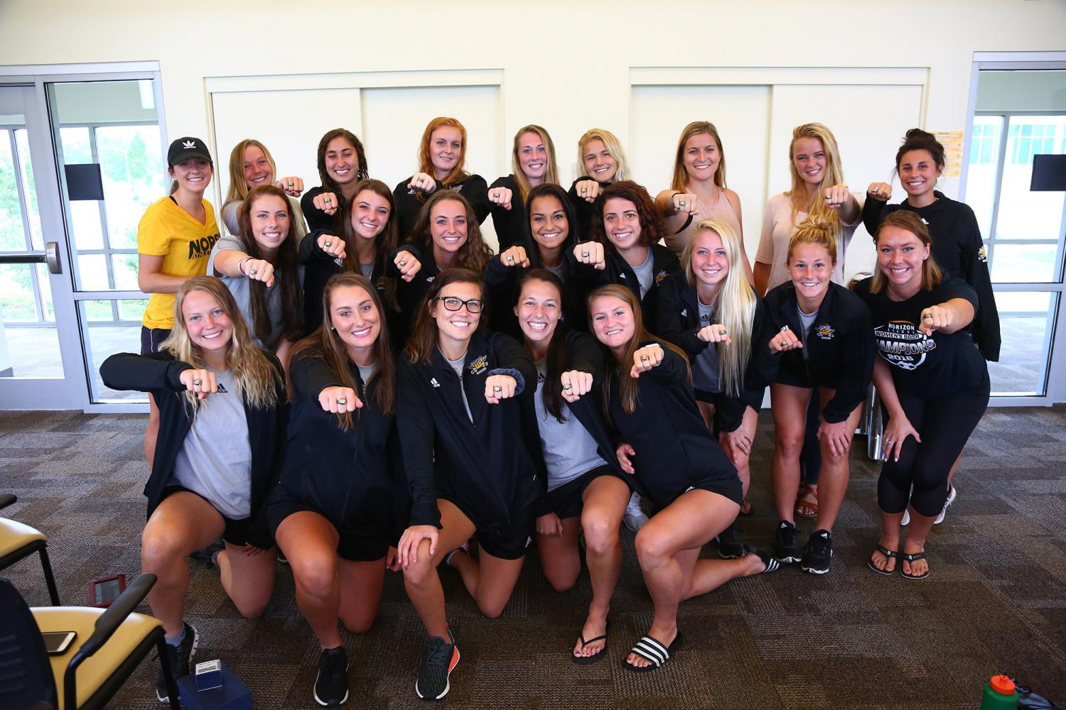The+Norse+received+their+championship+rings+at+NKU+Soccer+Stadium