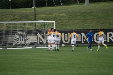 The Norse celebrate Tom Suchecki's first half goal against Memphis