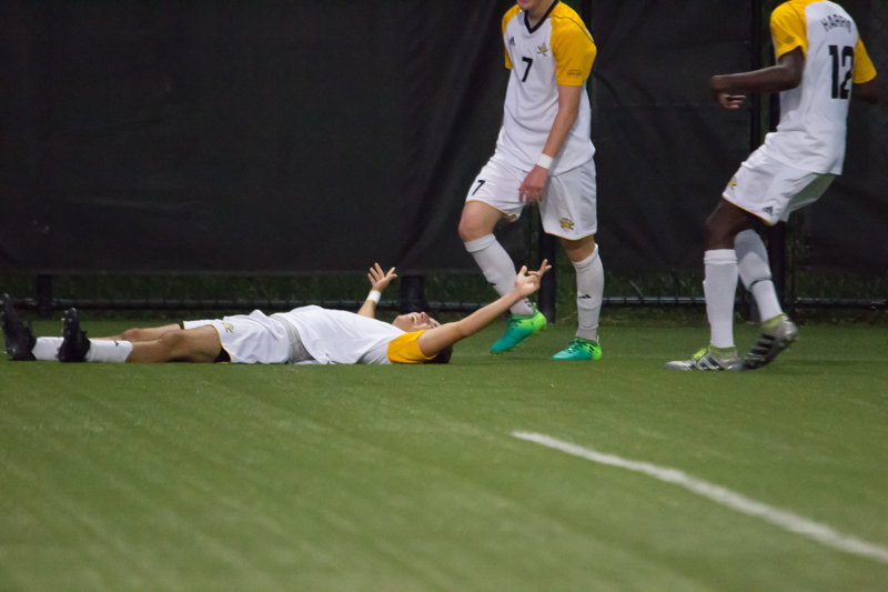 NKU+players+celebrate+after+a+goal+in+the+first+half+against+Marshall