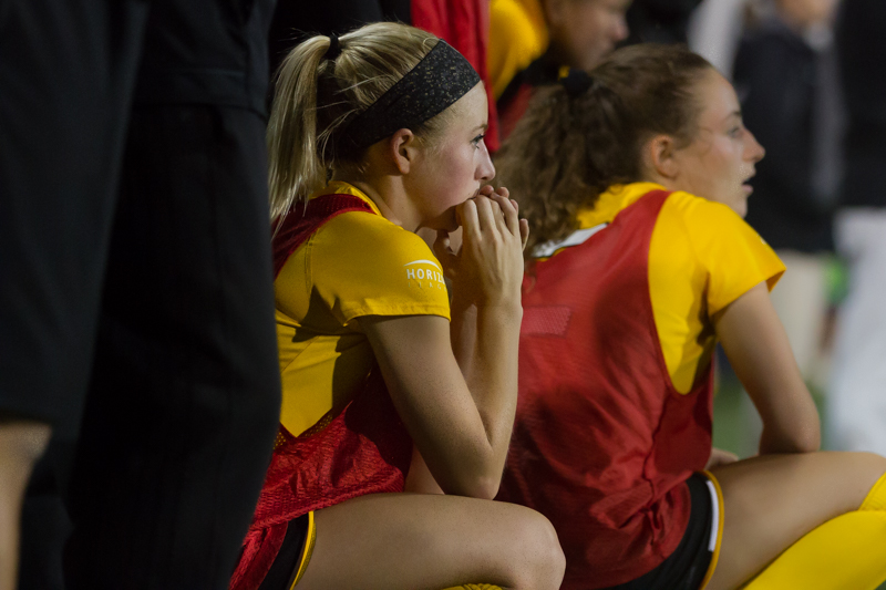 Payton Naylor (25) watches the game against Xavier.