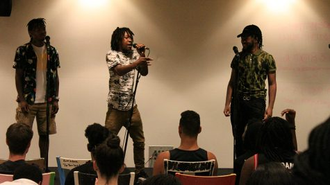 About 10 rappers graced the stage in the Student Union for the hip hop cypher.
