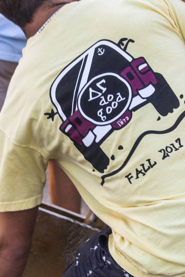 Greek organizations donned their own t-shirts, which carried messages about their respective chapters values.