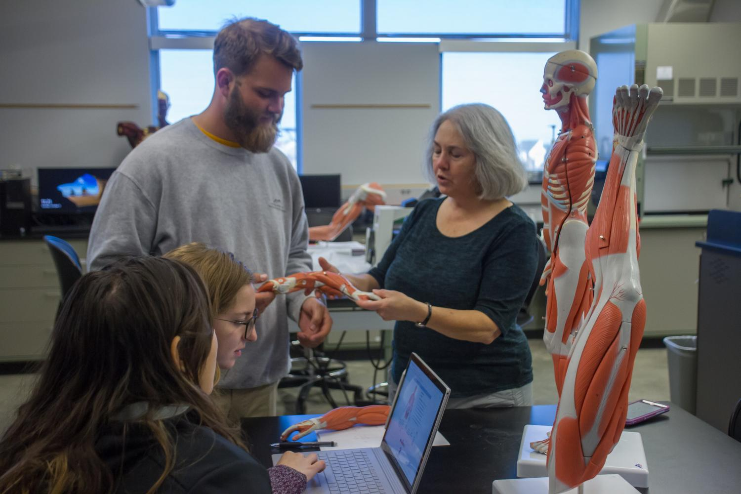 Christine Curran, associate professor in the Biological Sciences department, uses texting in her labs classes.