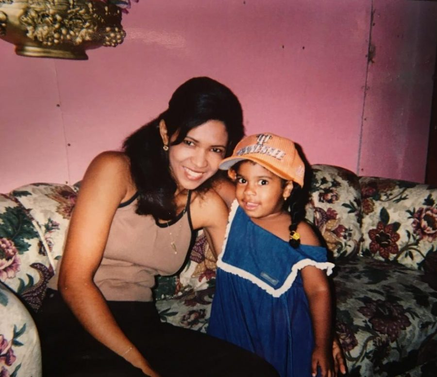 Nykarlis Santos Nunez with her mother, who she moved to Indiana at the age of 12 to be with.