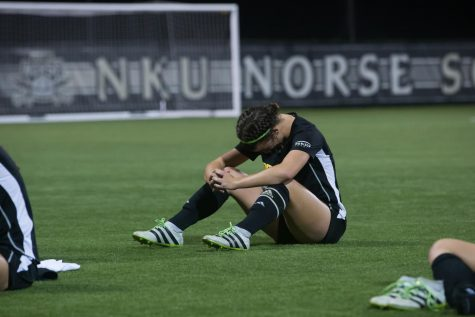 Macy Hamblin (3) after NKU's 1-0 loss against Cleveland State