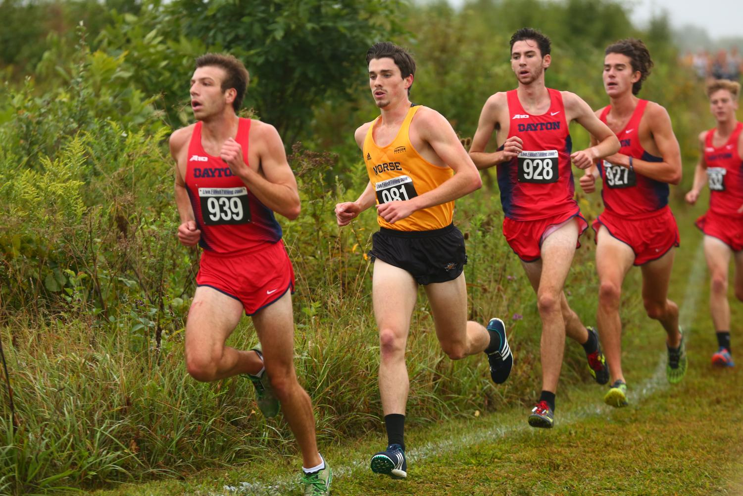Andrew Schille ran his way to the Horizon League cross country championship on Oct. 30
