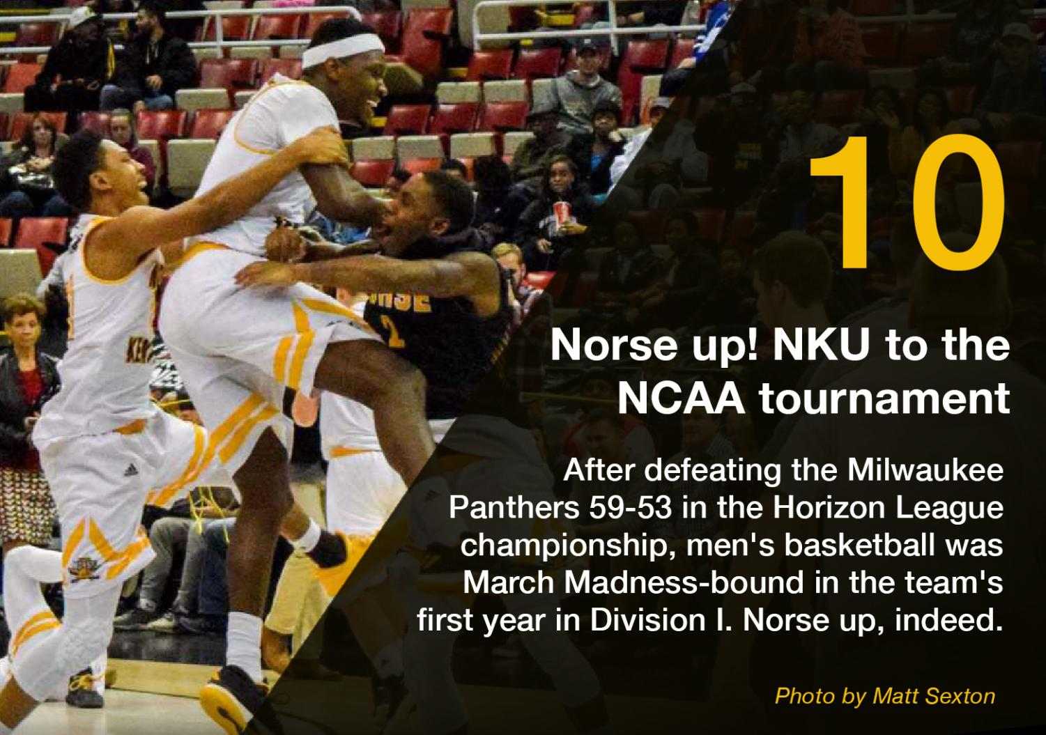 After+defeating+the+Milwaukee+Panthers+59-53+in+the+Horizon+League+championship%2C+men%27s+basketball+was+March+Madness-bound+in+the+team%27s+first+year+in+Division+I.+Norse+up%2C+indeed.