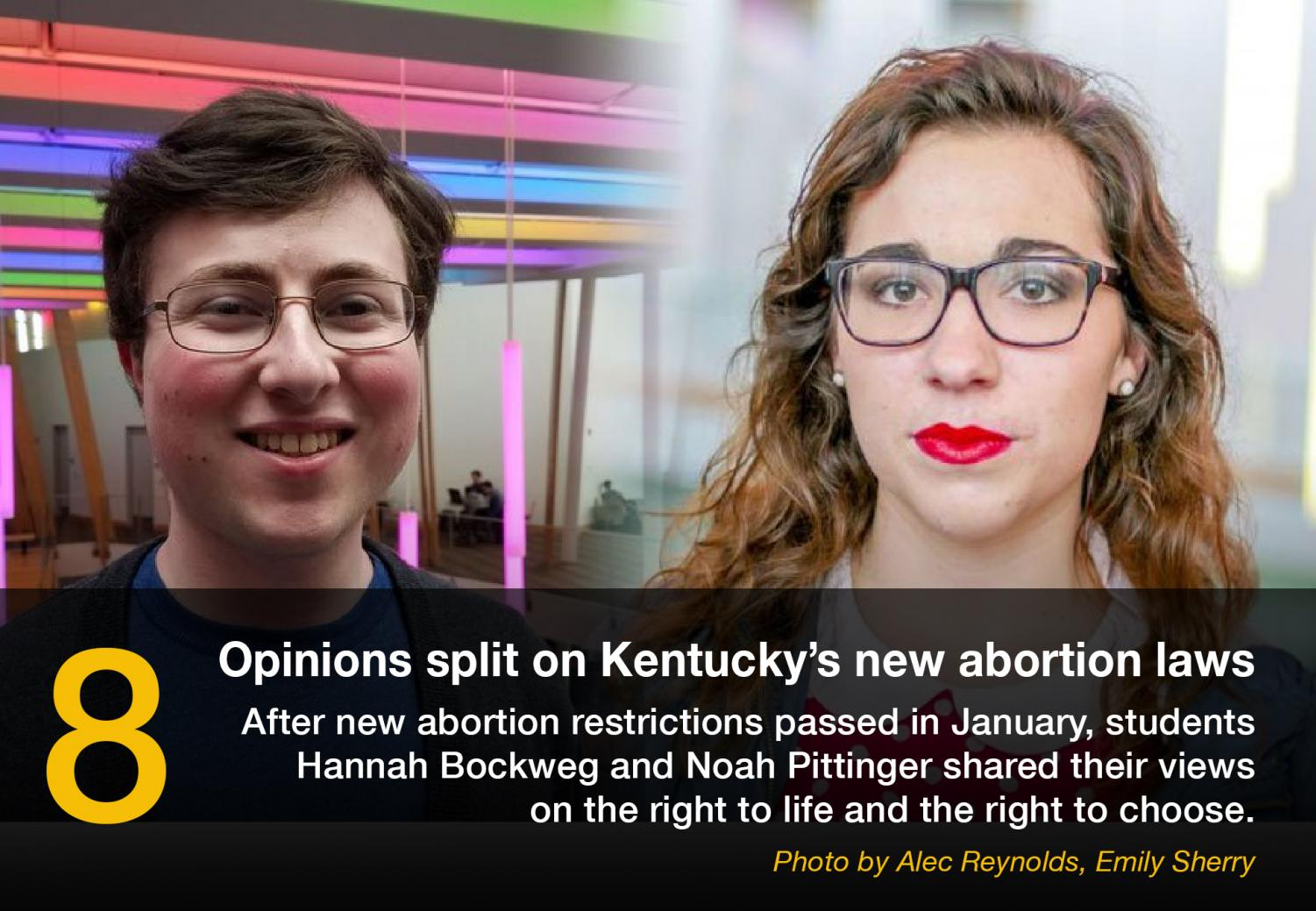 After+new+abortion+restrictions+passed+in+January%2C+students+Hannah+Bockweg+and+Noah+Pittinger+shared+their+views+on+the+right+to+life+and+the+right+to+choose.