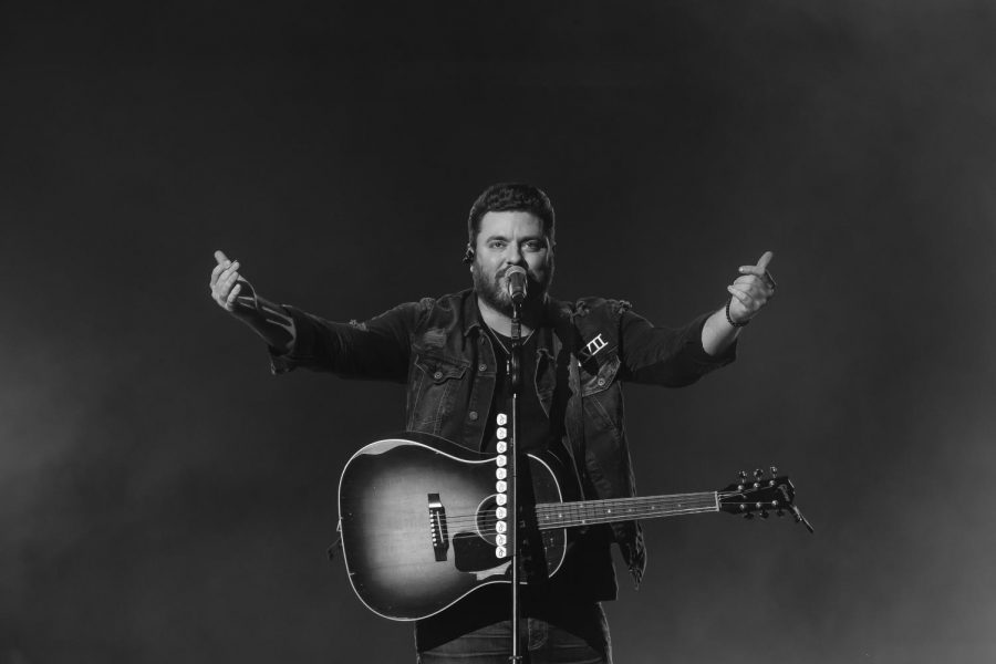 Chris Young performing at BB&T Arena in front of a sold out crowd