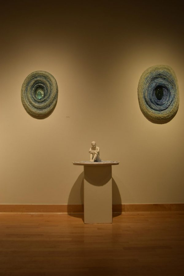 """Serenity"" an exhibition of sculptures created by NKU ceramics professor JeeEun Lee, exists in a surreal space between states of matter."