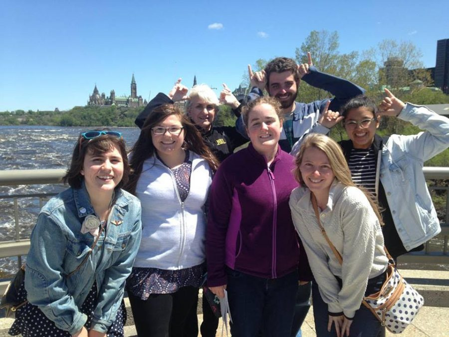 NKU Honors students outside of Canada's Parliament in Ottawa on a study abroad trip last year.