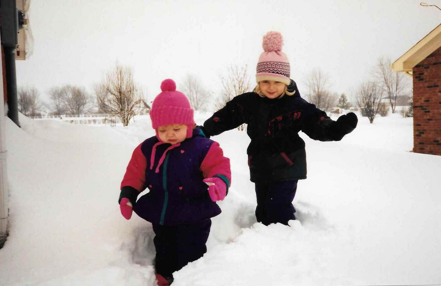 The Northerner's Editor-in-Chief as a kid, running through snow in suburbia.