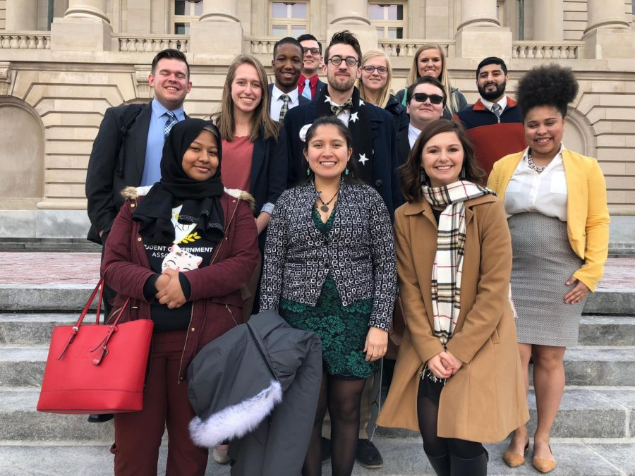 Members of SGA met with lawmakers and rallied against proposed funding cuts in Frankfort on Feb. 6.