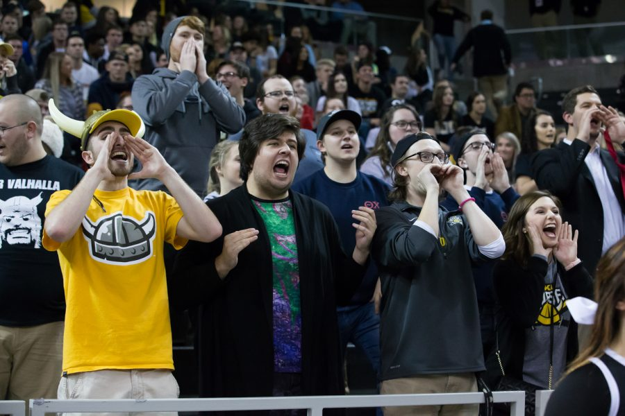NKU fans cheer on the Norse during the game against Milwaukee.