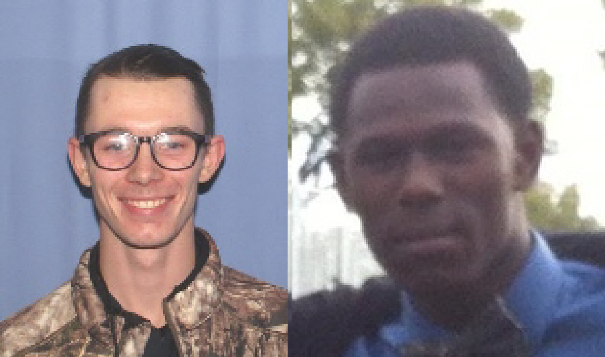 Jacob Michael Toadvine (left) and an unknown man (right) are suspects in an alleged robbery in Lot U.