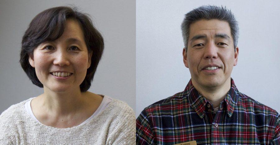 Japanese professors Dr. Junko Agnew (left) and Makoto Nakamura (right).