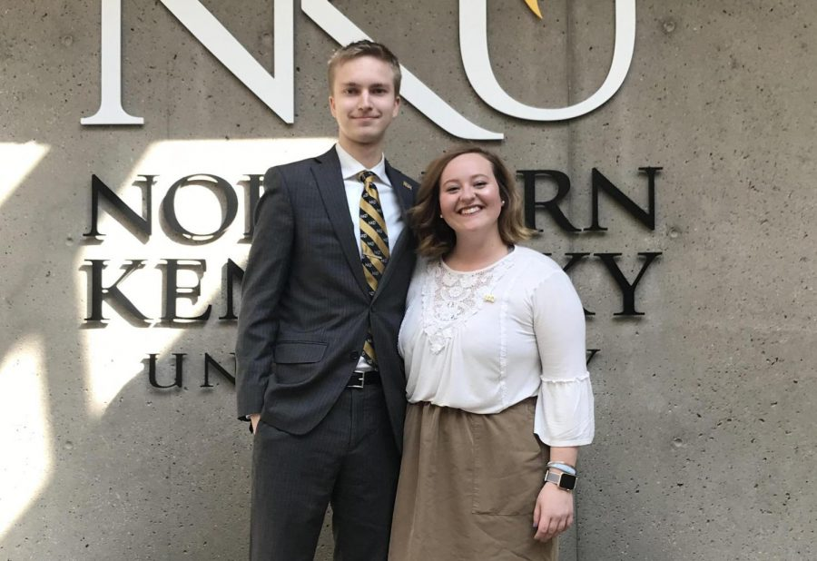 Samantha Marcum and Derek Holden announced their campaign for SGA president on March 12.