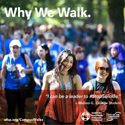 Student-organized walk raises money for suicide awareness