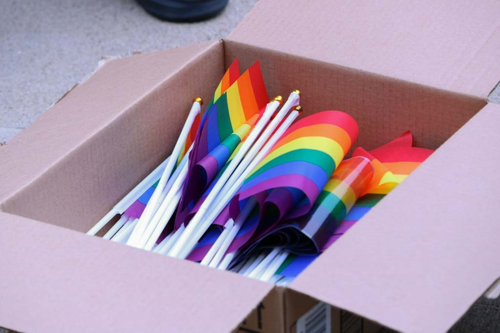 Pride+flags+were+distributed+to+attendees.+
