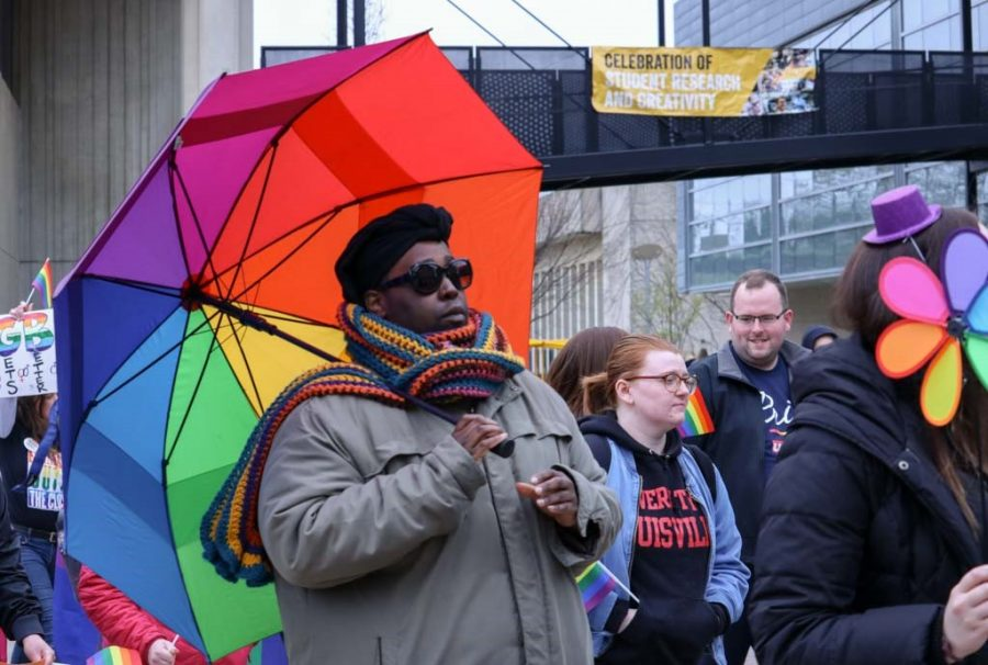 The+march+kicked+off+NKU%27s+5th+annual+Pride+Week.