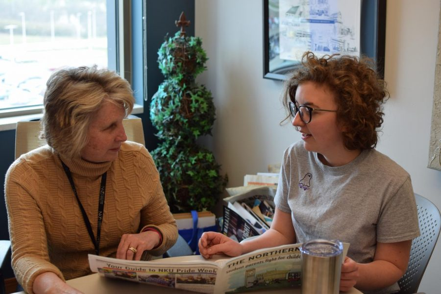 Mackenzie Manley and her professor, and mentor, Michele Day.