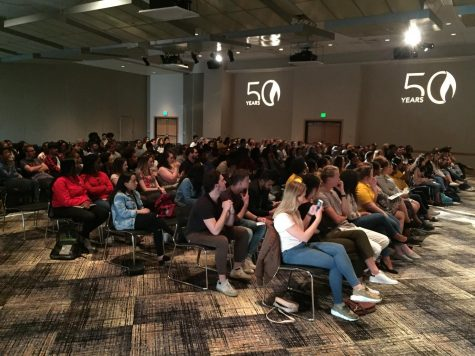 Attendees gathered in the Student Union ballroom to hear Guerrero speak.