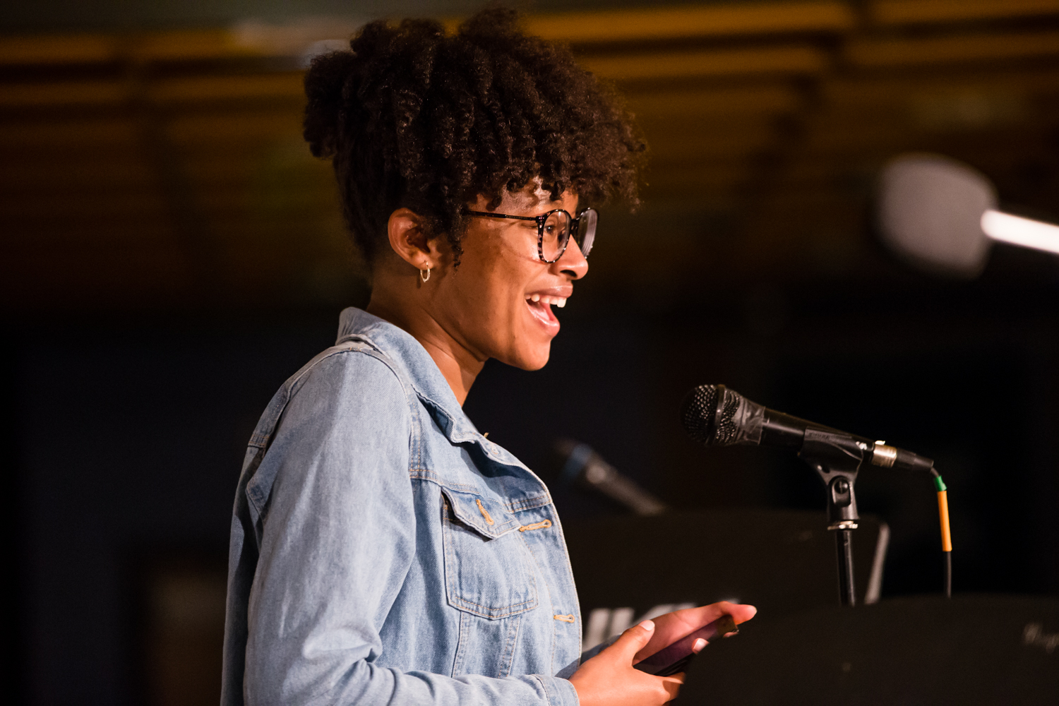 NKU's annual Open Mic Night took place in the Multi-purpose room this year.