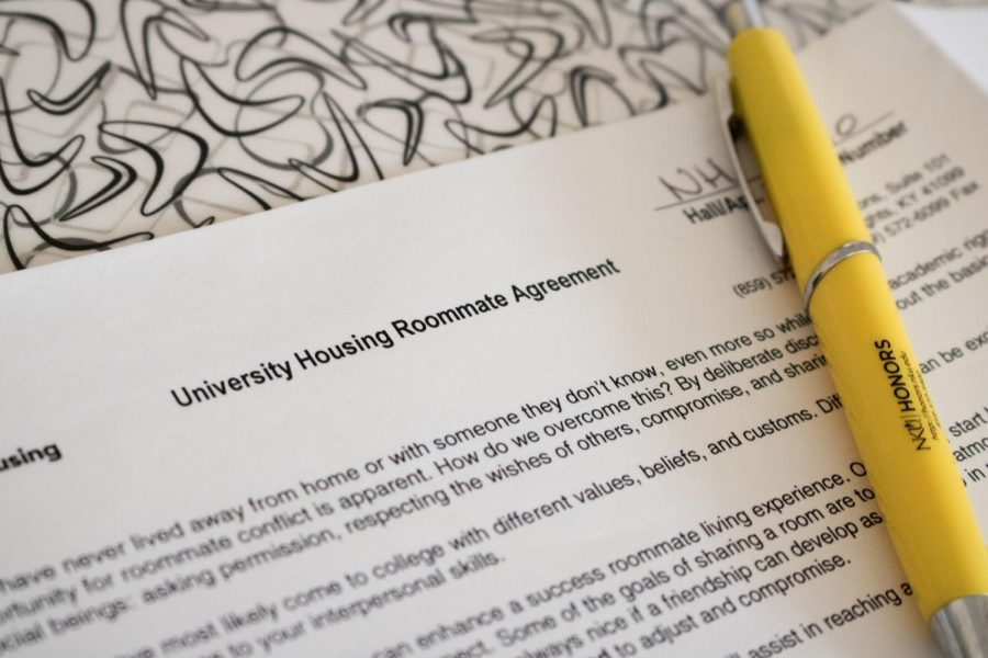 Roommates fill out a roommate agreement when they move into University Housing.