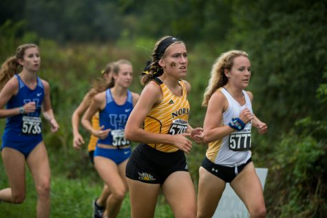 Maddie Frey runs during the 5k race hosted by NKU.