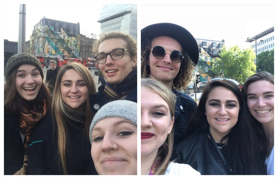 From left to right, a before and after transformation: four friends who'd known each other three days...and four friends who had been through four months of growing, experiencing and fun together.