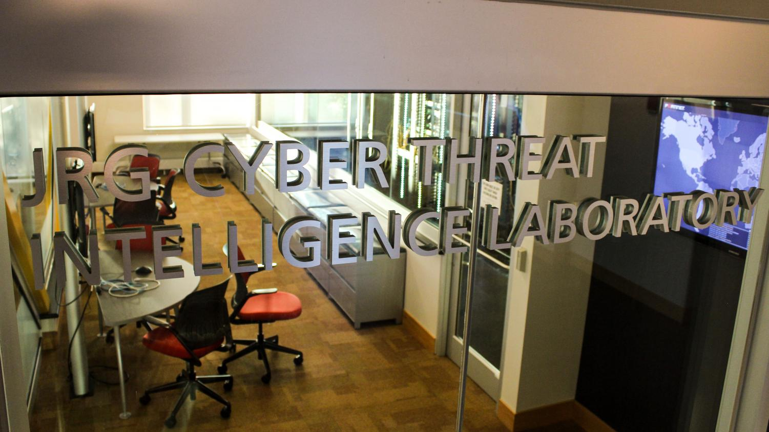 The JRG Cyber Threat Intelligence Laboratory located in Griffin Hall.