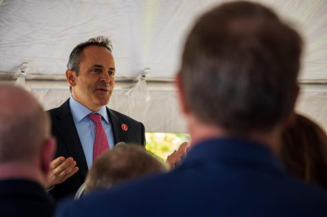 Governor Matt Bevin speaks at the Health Innovation Center dedication Oct. 17, 2018.