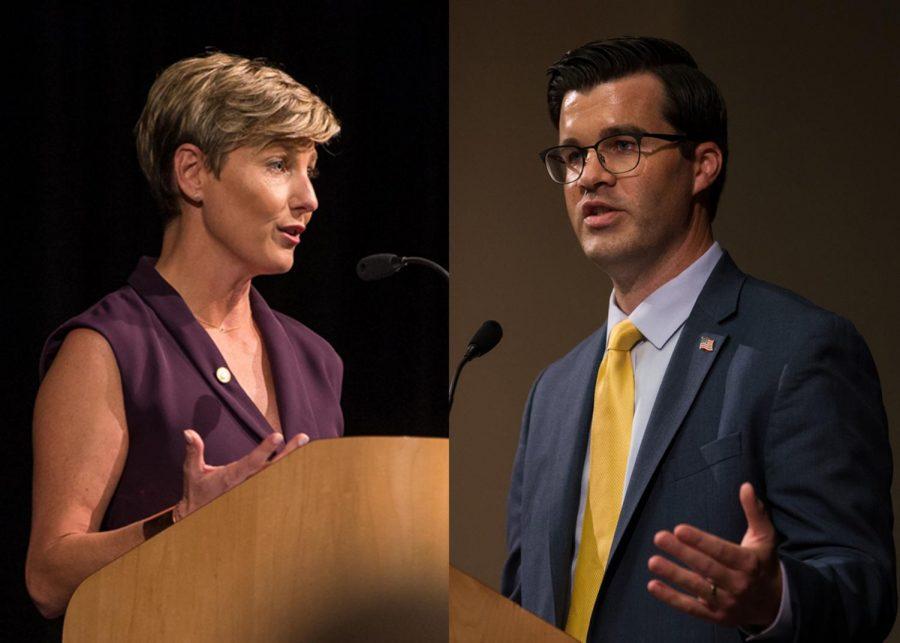 GALLERY: Wil Schroder, Rachel Roberts debate at NKU Student Union