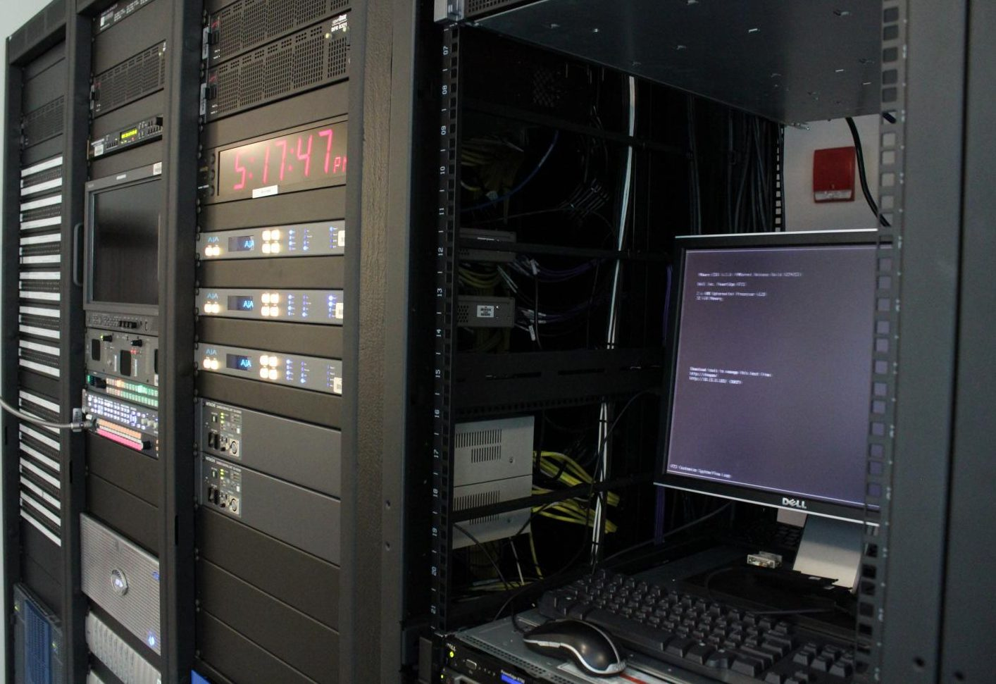 The server system on the third floor of Griffin Hall.