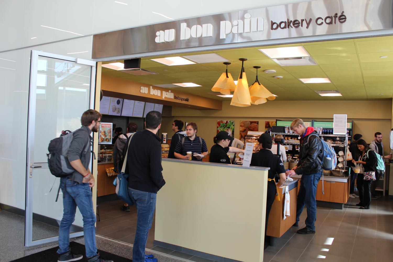 Au Bon Pain is open from 7:30 a.m. to 6:30 p.m. in the Health Innovation Center.