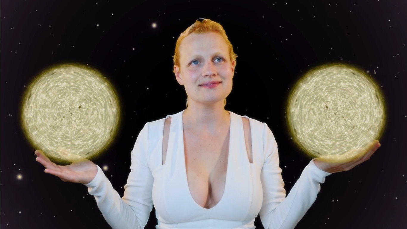 Oldham makes ASMR videos to help the reader relax while also exploring the universe.