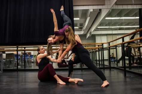 Olivia Sketch, Brianna Mullins and Lexie Callaham are all three dancing majors.