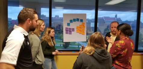 Center for Innovation students discuss customer segments and the best course of action to take.