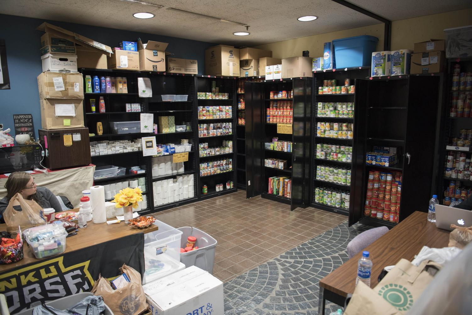 FUEL NKU's current location in University Center 142. The food pantry is slated to move to a larger space in Albright Health Center.