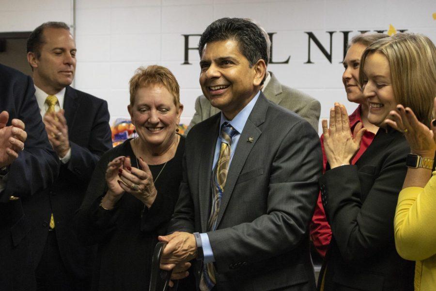 NKU President Ashish Vaidya cuts the ribbon for FUEL NKUs newest food pantry.