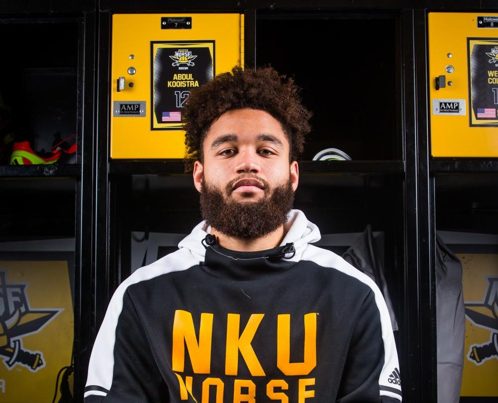 Abdul Kooistra, redshirt senior defender for NKU men's soccer, transferred form University of Wisconsin in 2017.