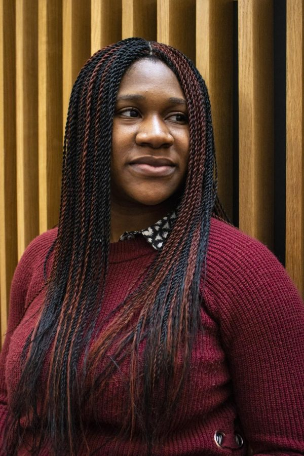 Onyinye Uwolloh, a junior psychology major, uses haiku written in Pidgin English to draw parallels between her Nigerian roots and Herman Melvilles Moby Dick.