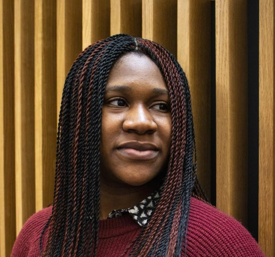 Onyinye Uwolloh, a junior psychology major, uses haiku written in Pidgin English to draw parallels between her Nigerian roots and Herman Melville's