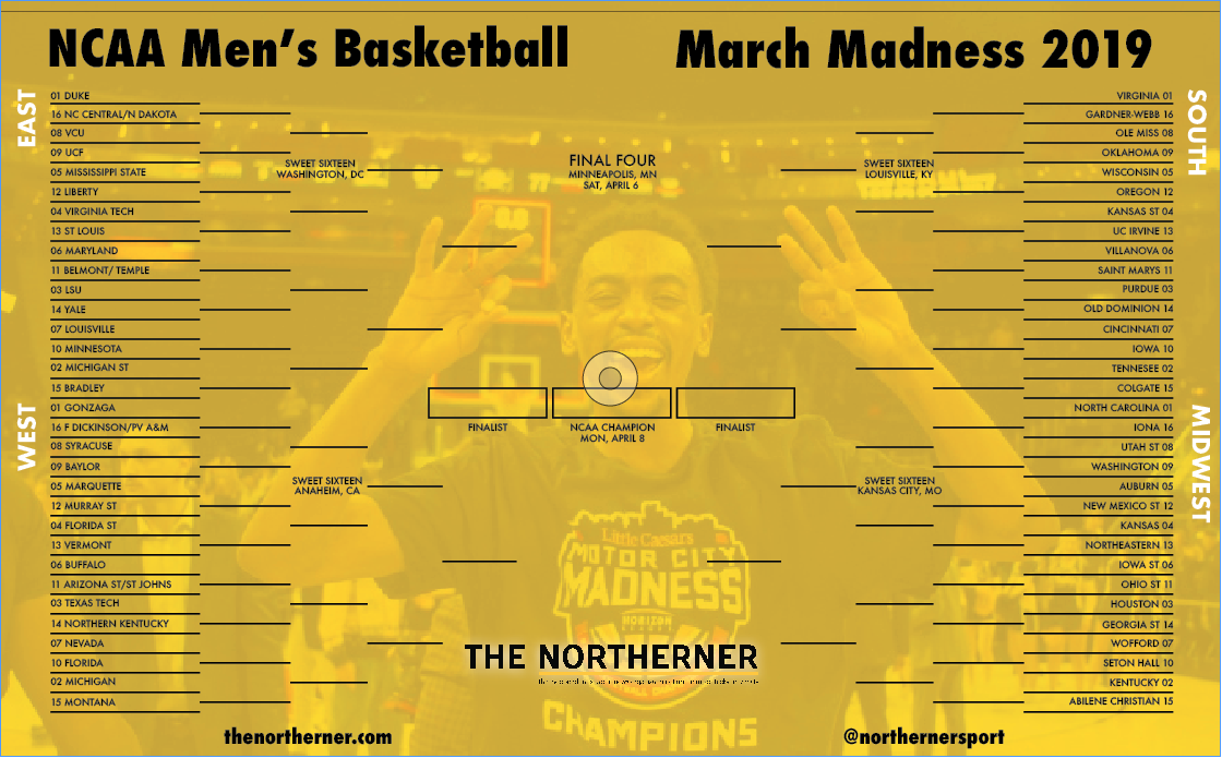 The Northerner Download Your Ncaa March Madness Bracket
