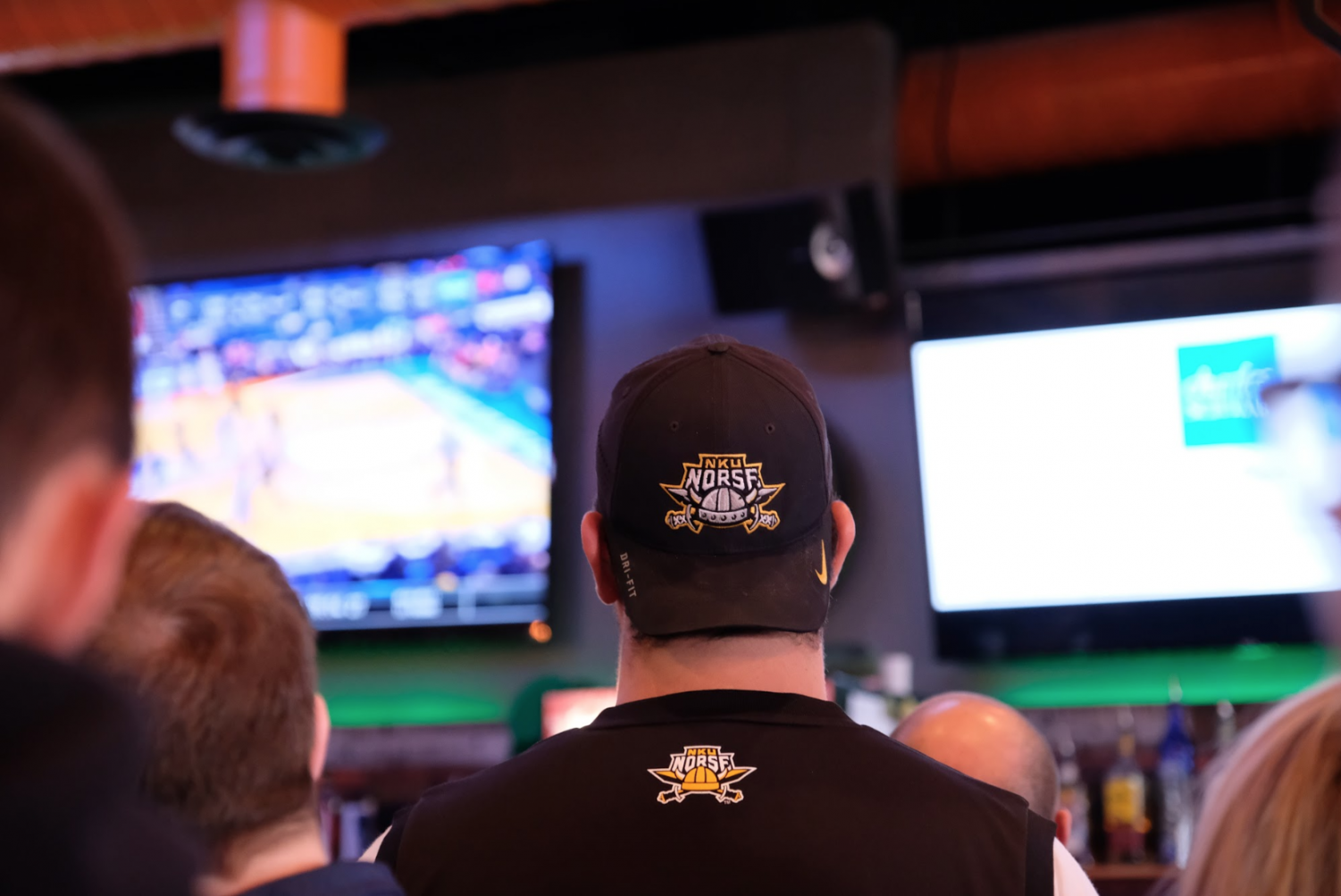 NKU men's basketball fans watch the Norse take on the Texas Tech Raiders in the first round of March Madness.