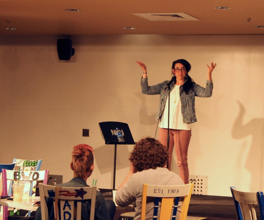 Special guest Katie Kramer dazzled at NKU's 6th annual Open Mic Night.