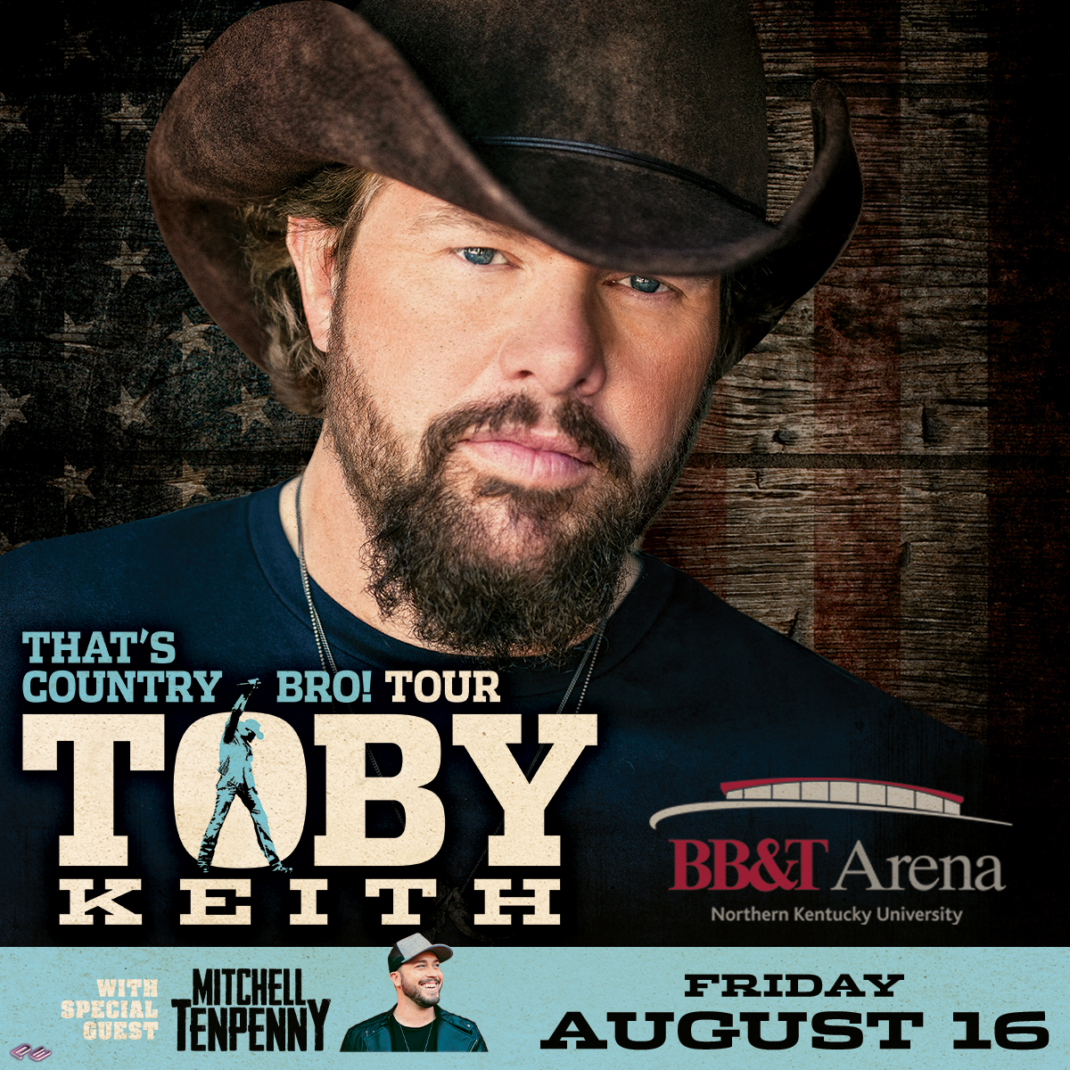 Toby Keith is stopping at BB&T Arena for his