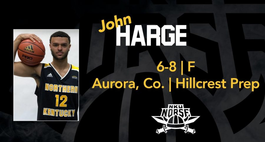 Left middle photo of John Harge. Middle of the graphic has text that reads