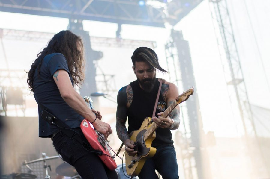 Early 2000's emo-rock group Dashboard Confessional played their hits at Bunbury on Saturday.