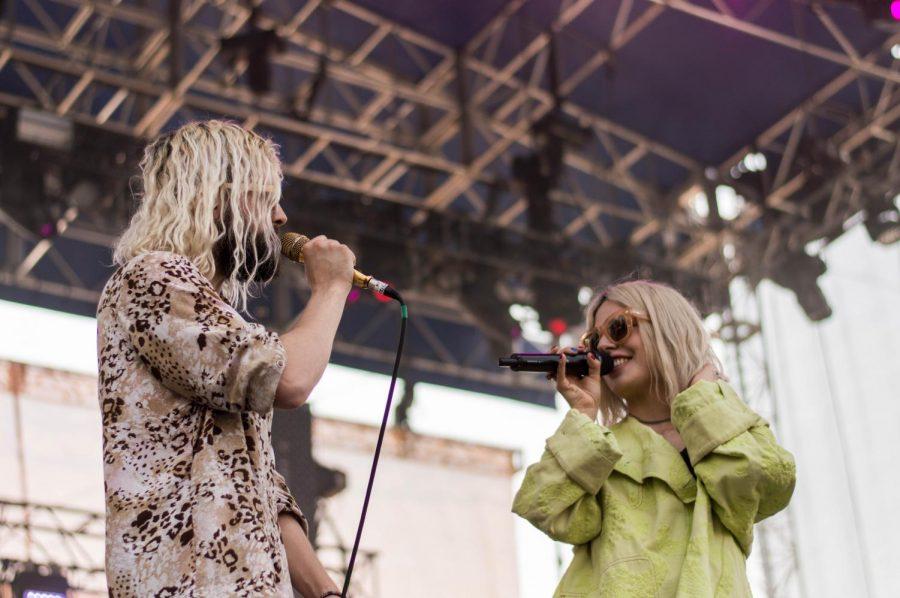 Swedish-American indie-pop duo Flora Cash played Saturday at Bunbury.
